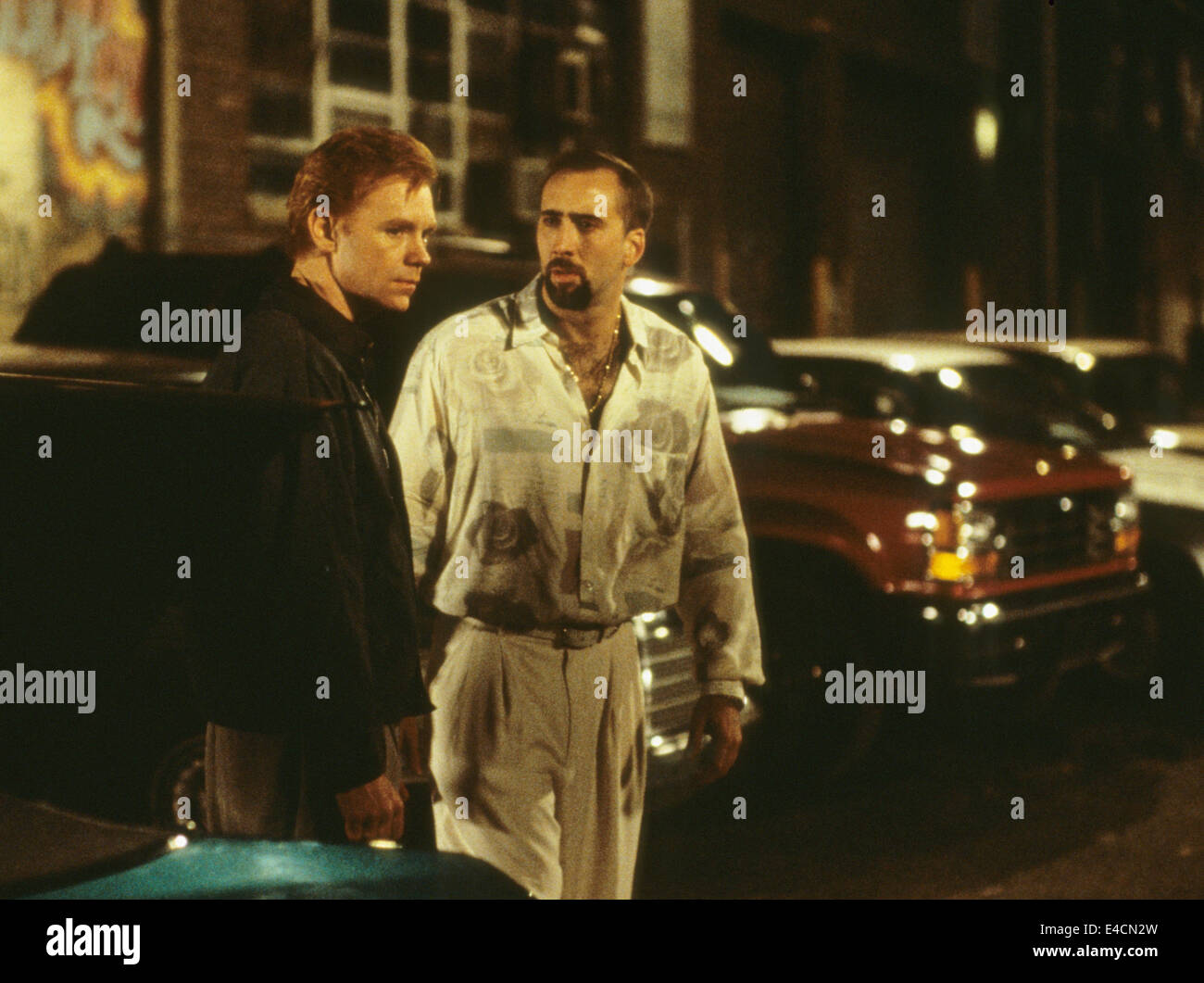 KISS OF DEATH 1995 Twentieth Century Fox film with Nicholas Cage at right and David Caruso - Stock Image