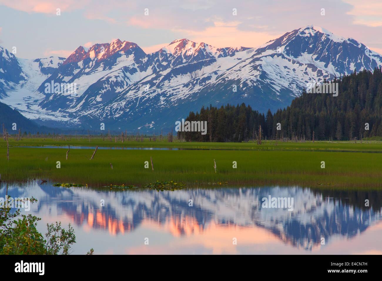 Ponds along the Seward Highway, Chugach National Forest, Alaska. - Stock Image