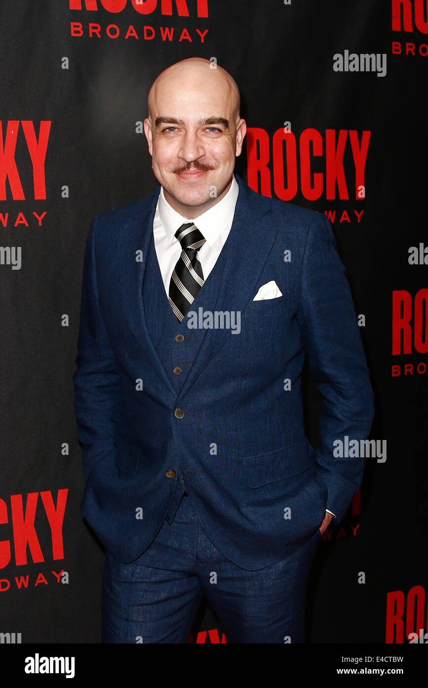 Actor Eric Anderson attends the 'Rocky' Broadway opening night after party at Roseland Ballroom on March - Stock Image