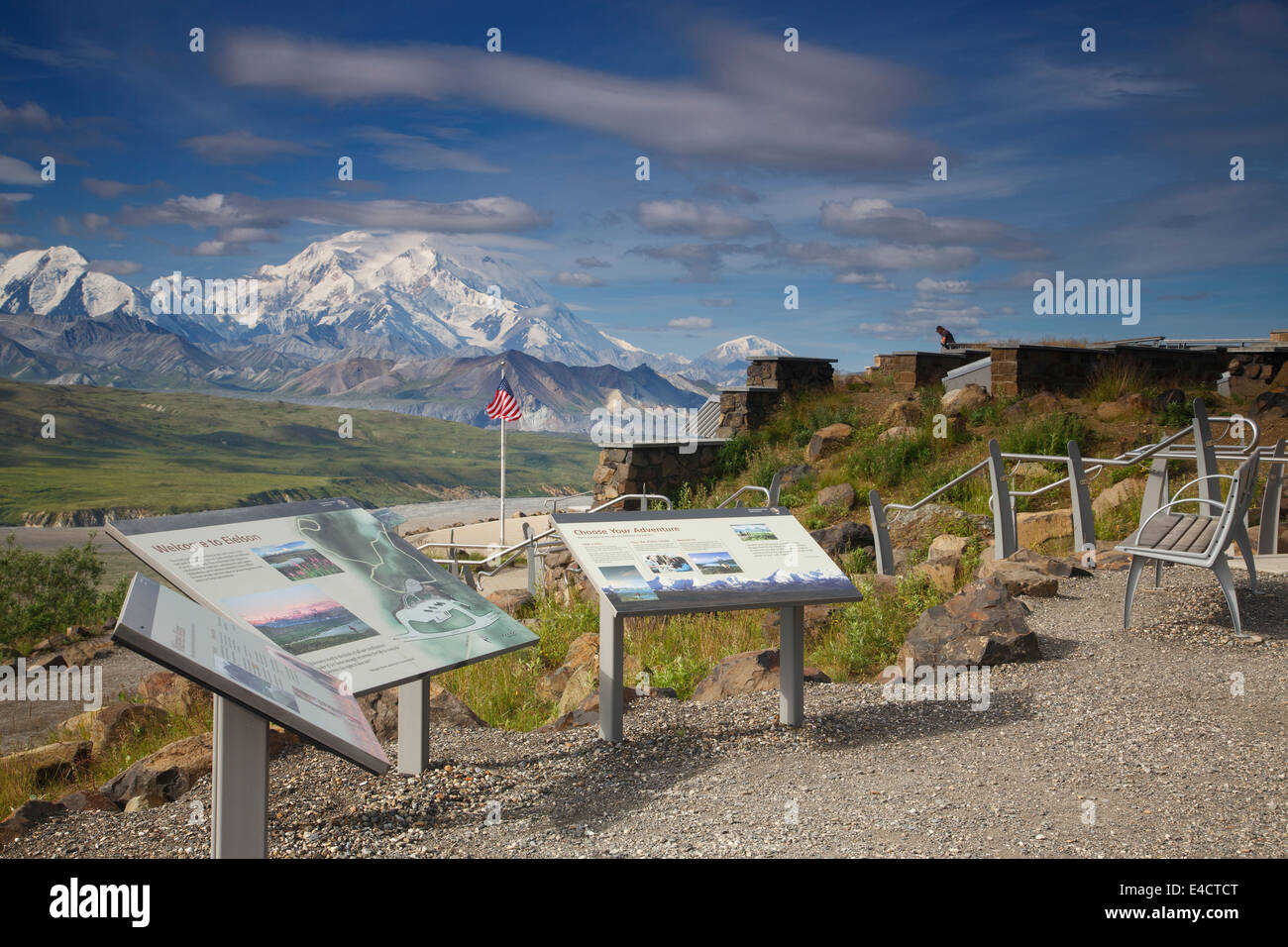 Mt McKinley also known as Denali, from the Eielson Visitor Center, Denali National Park, Alaska. - Stock Image