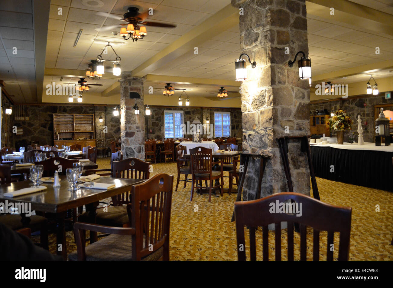Dining Room At Mountain Lake Lodge In Virgina Featured In The Movie