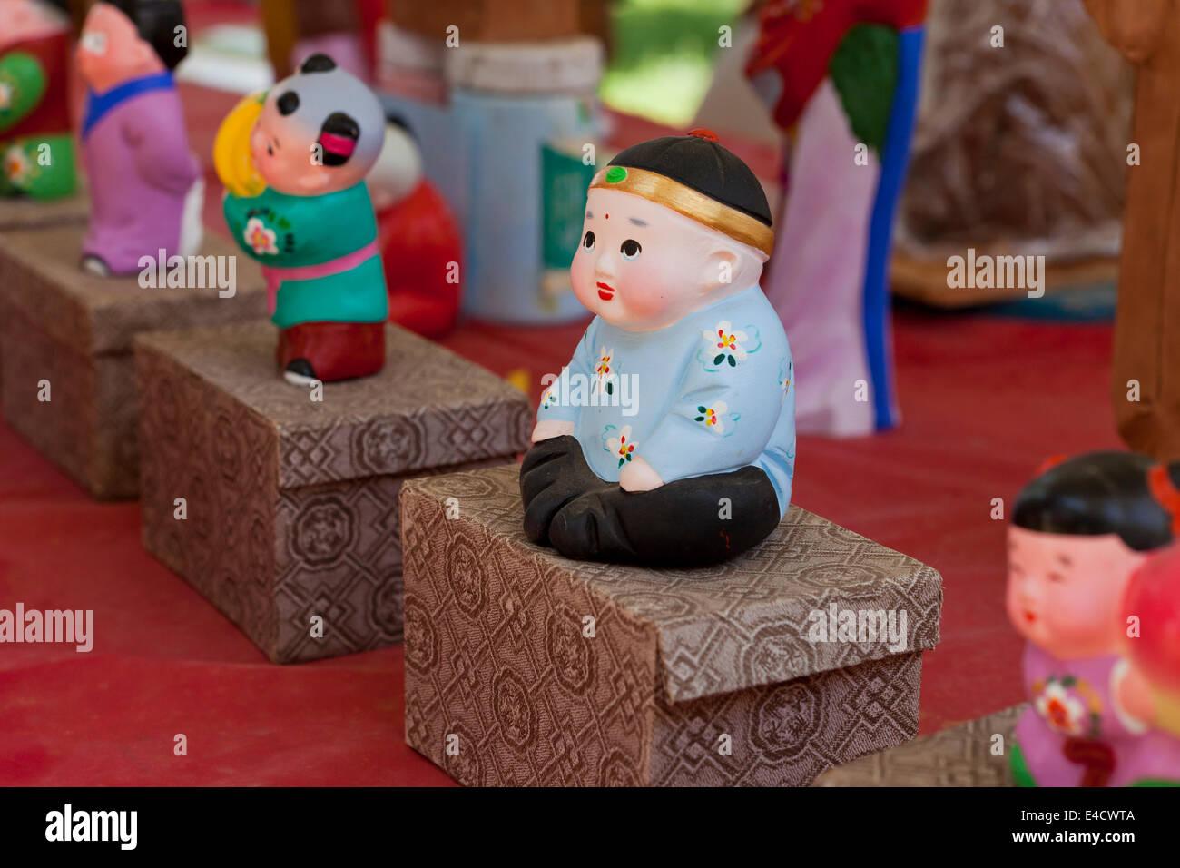 Handmade Chinese dolls - Stock Image