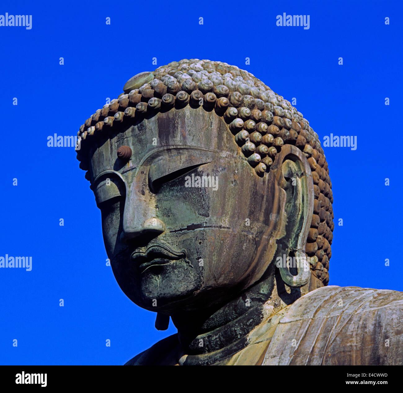 The Great Buddha in Kotoku-in temple, Kamakura, Kanagawa Prefecture, Japan - Stock Image
