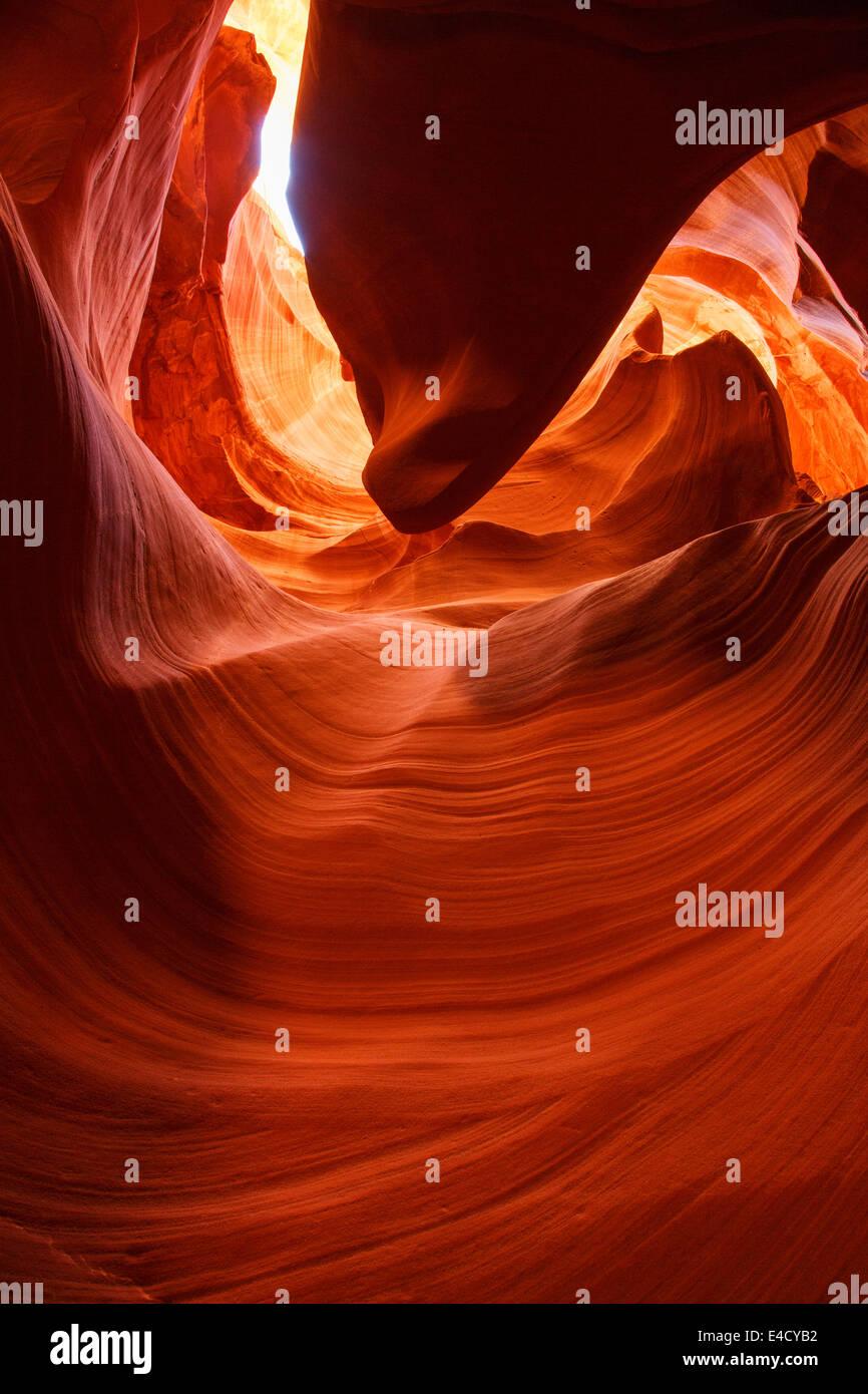Slot Canyon,Navajo Park Land, Page, Arizona. - Stock Image