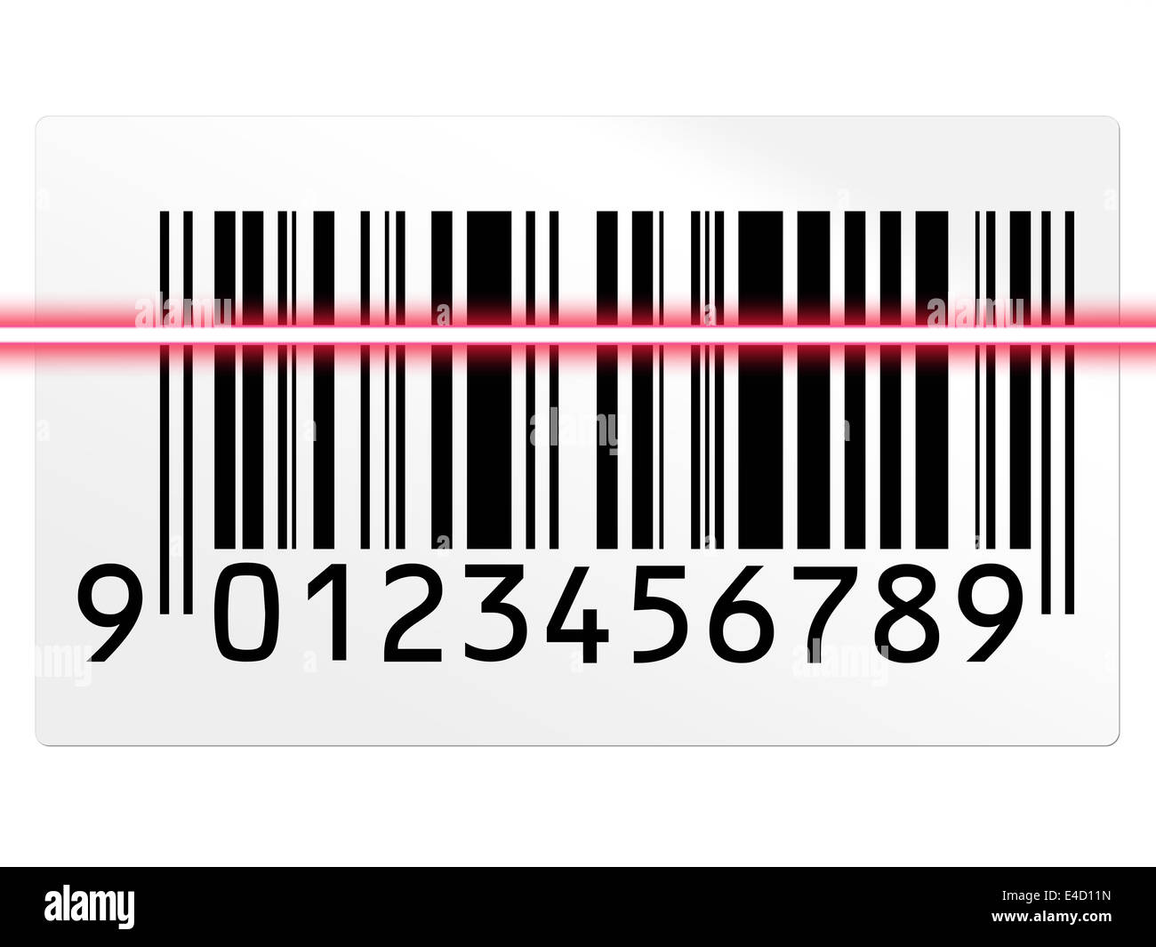 barcode scan - Stock Image