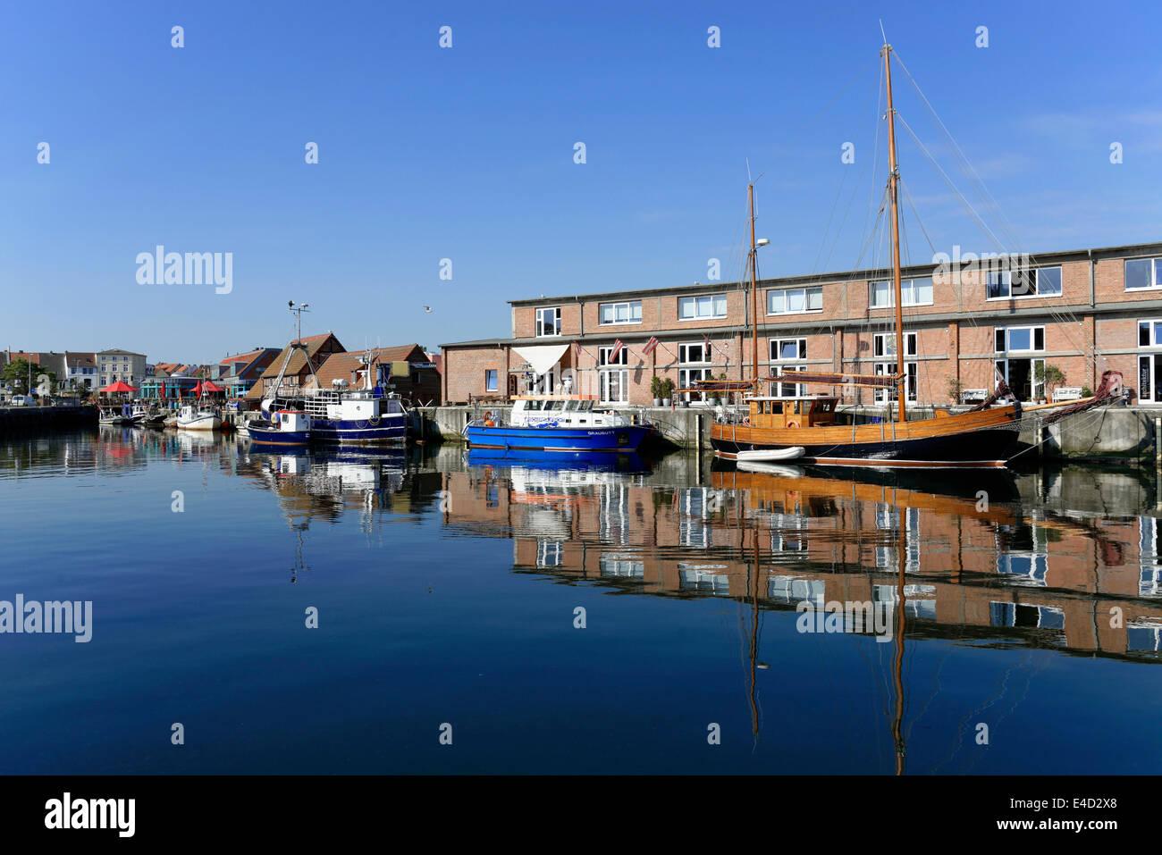 Old harbour, Wismar, Mecklenburg-Western Pomerania, Germany - Stock Image