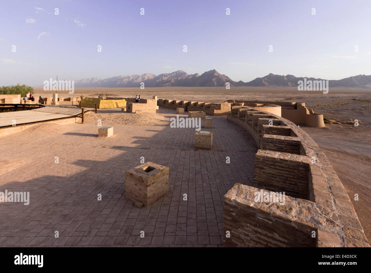 Robat-e Zayn al-Din Caravanserai, built by the Safavid government of Kerman on the Silk Road, Yazd, Iran - Stock Image
