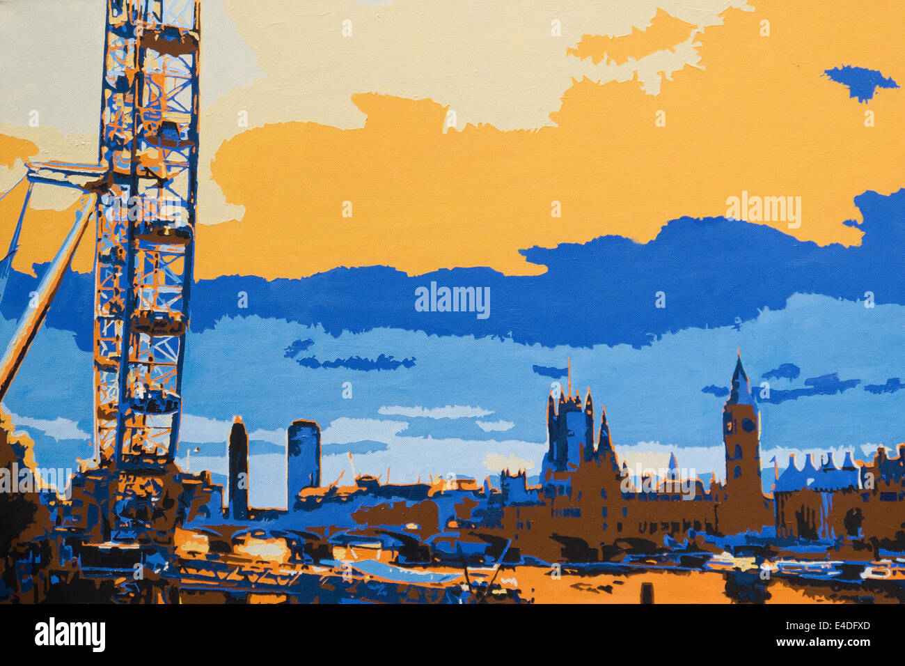 London Acrylic Painting Art Artwork Cityscape Representative Art High Resolution Stock Photography And Images Alamy