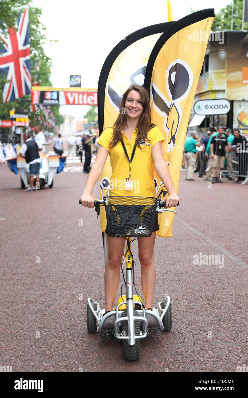 Bic one of the sponsors at Stage three Cambridge to London in the 2014 Tour De France - Stock Image