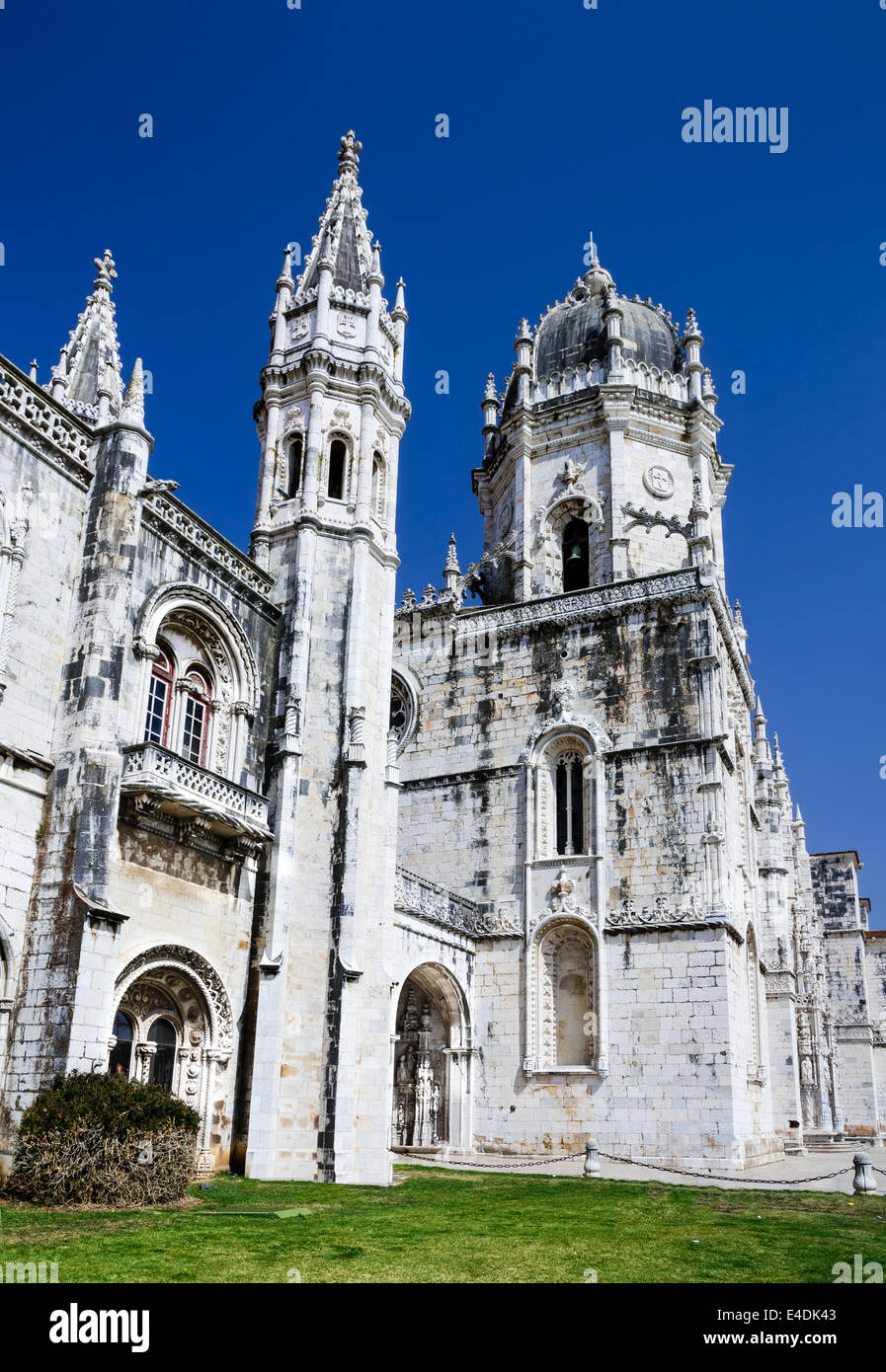 Jeronimos Monastery is located in the Belem district of Lisbon, Portugal. This monastery is one of the most prominent - Stock Image