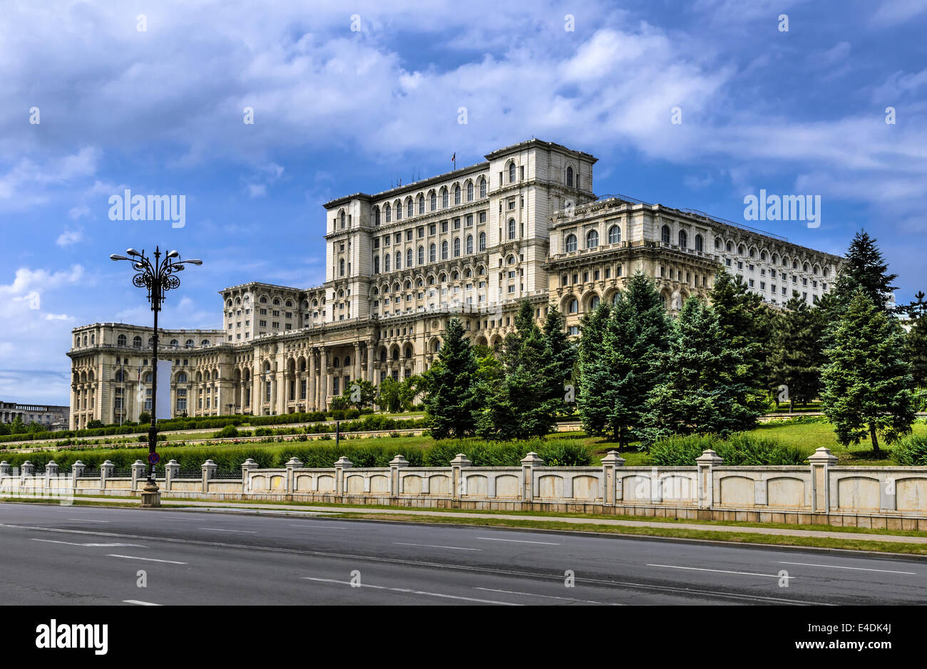 The Palace of the Parliament, the second largest building in the world, built by dictator Ceausescu in Bucharest, - Stock Image