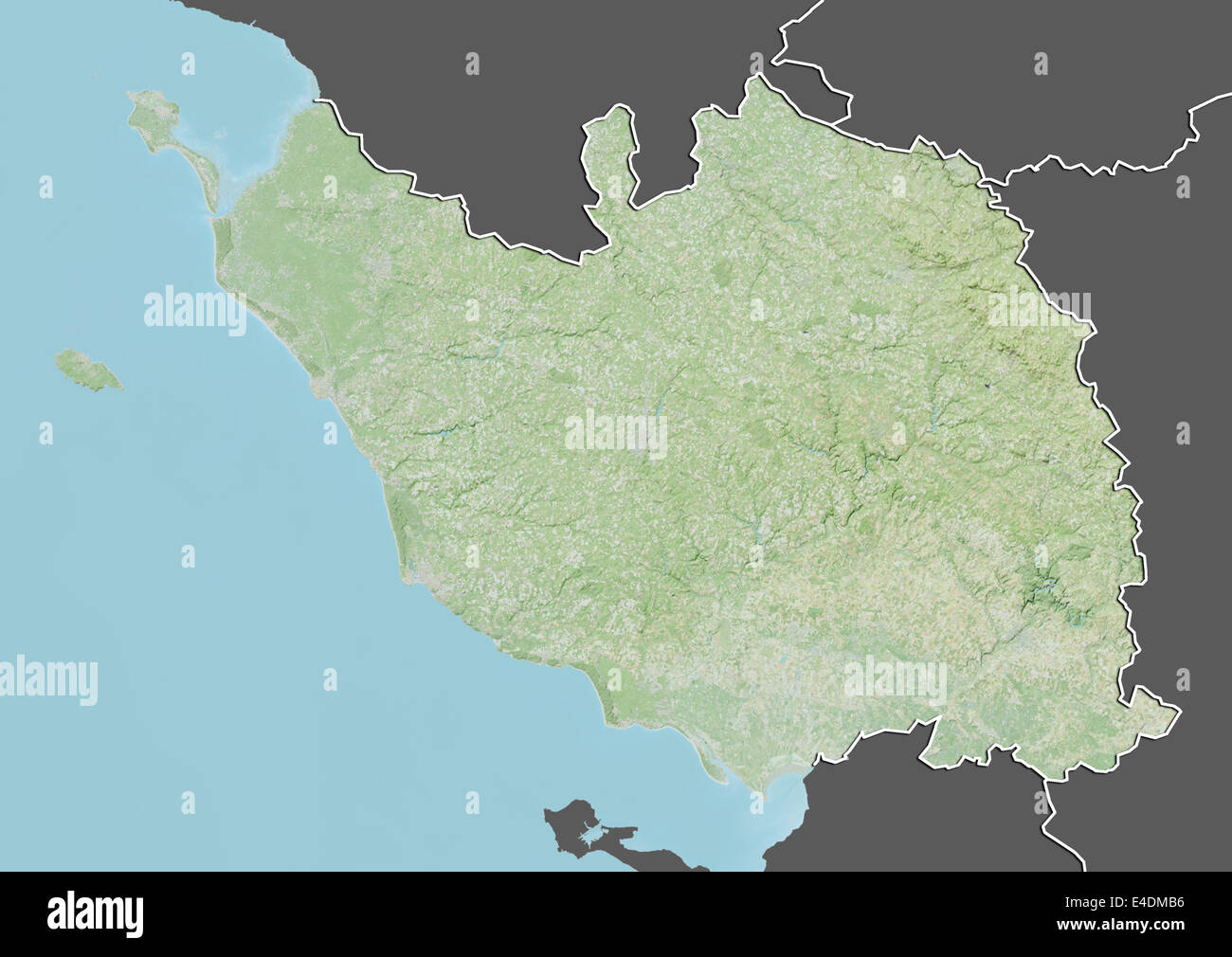 Map Of France Vendee.Departement Of Vendee France Relief Map Stock Photo 71601466 Alamy