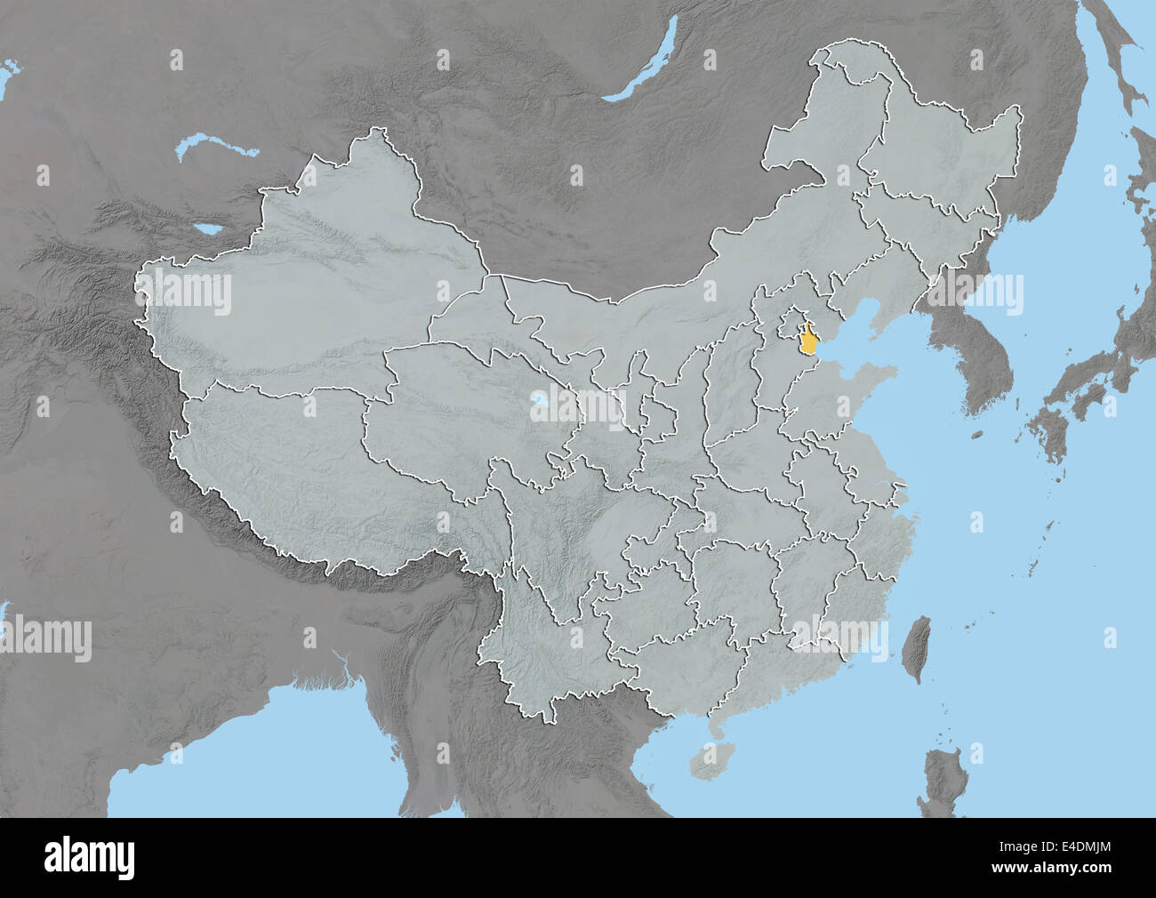 Tianjin china asia map stock photos tianjin china asia map stock tianjin china relief map stock image gumiabroncs Image collections