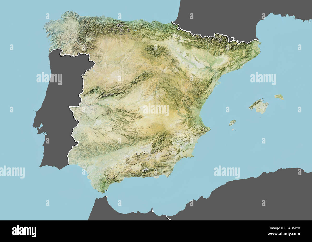 Map Of Spain Geography.Map Satellite Geography Andalucia Stock Photos Map Satellite