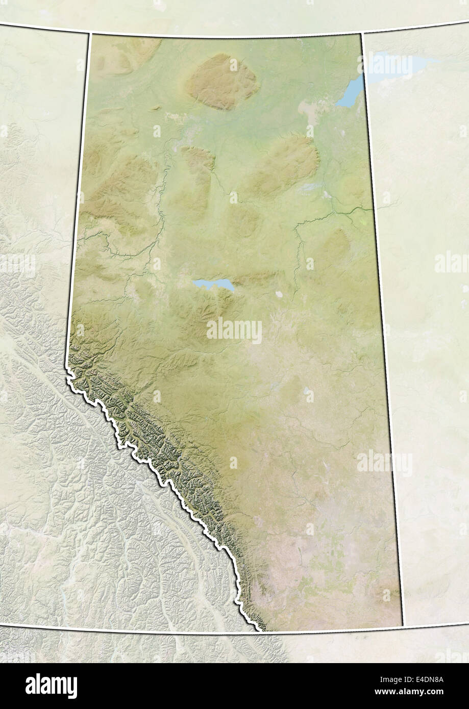 Province of Alberta, Canada, Relief Map Stock Photo: 71602170 - Alamy