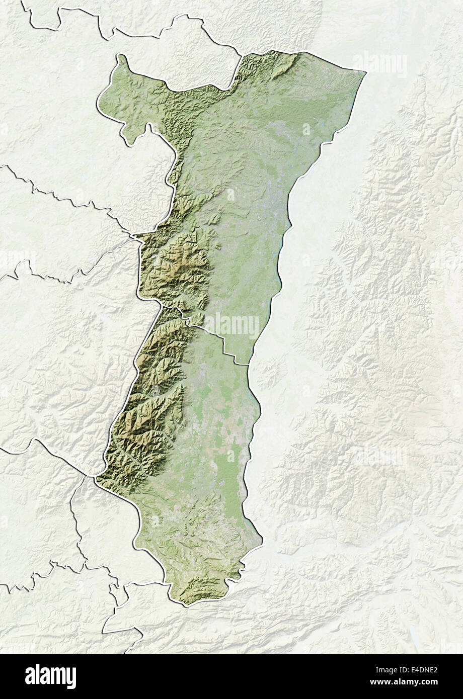 Region Of Alsace France Relief Map Stock Photo 71602330 Alamy
