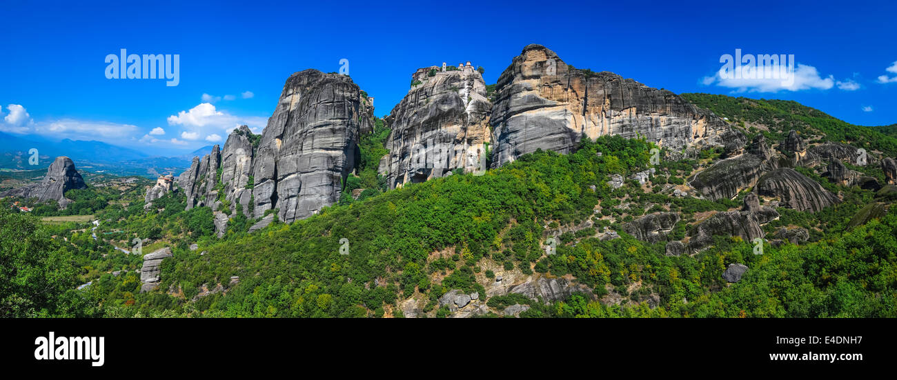 Meteora is one of the largest and most important complexes of Eastern Orthodox monasteries in Greece - Stock Image