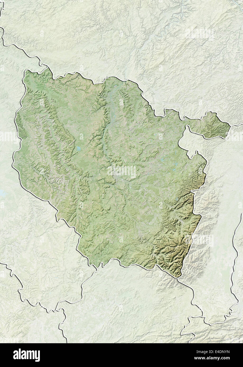 Region Of Lorraine France Relief Map Stock Photo 71602713 Alamy