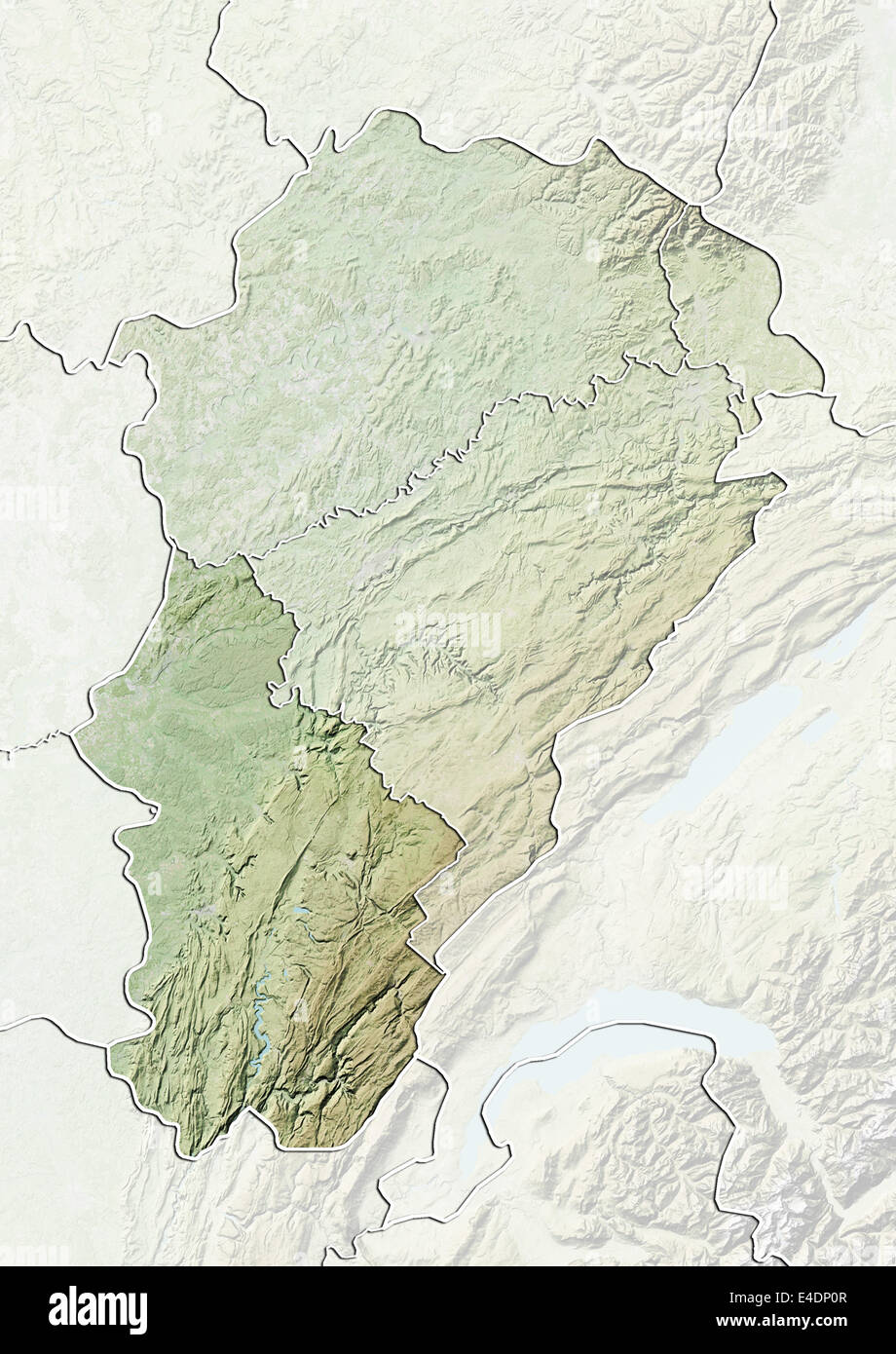 Map Of France Jura.Departement Of Jura France Relief Map Stock Photo 71602743 Alamy