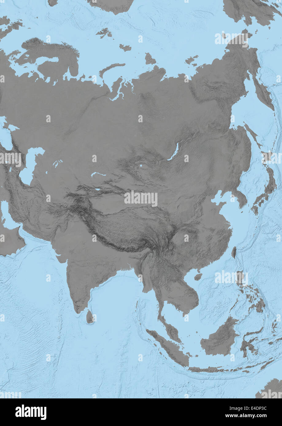 Asian relief map you know when