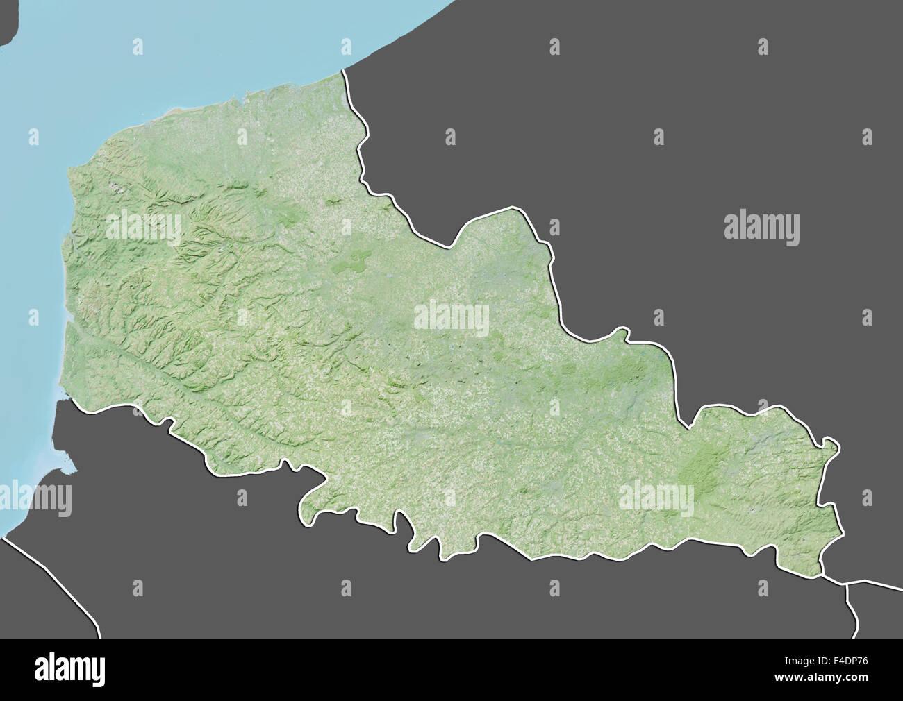 Map Of France Calais.Region Of Nord Pas De Calais France Relief Map Stock Photo