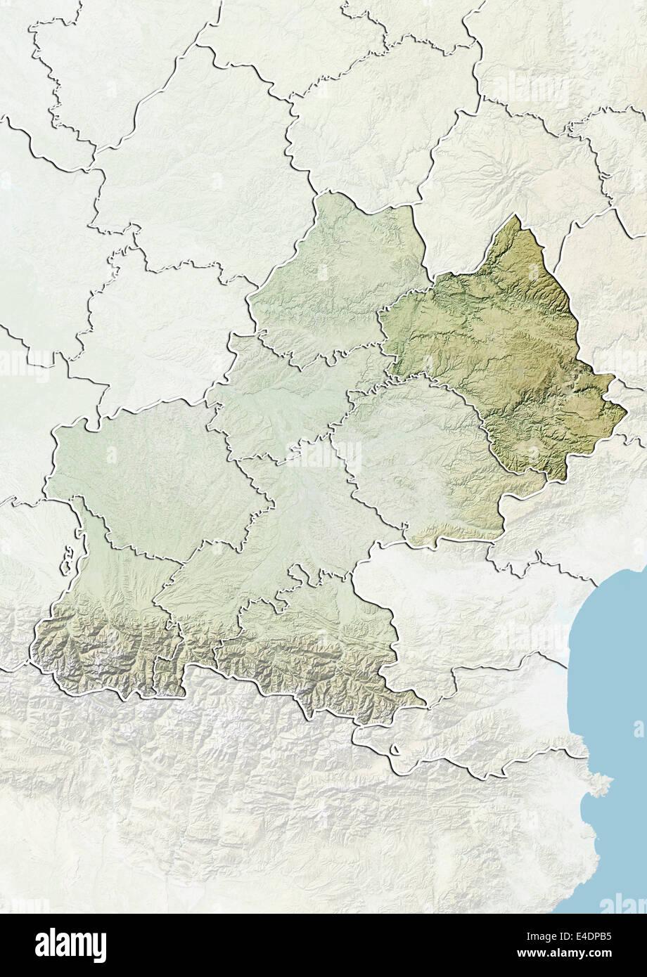 Aveyron France Map
