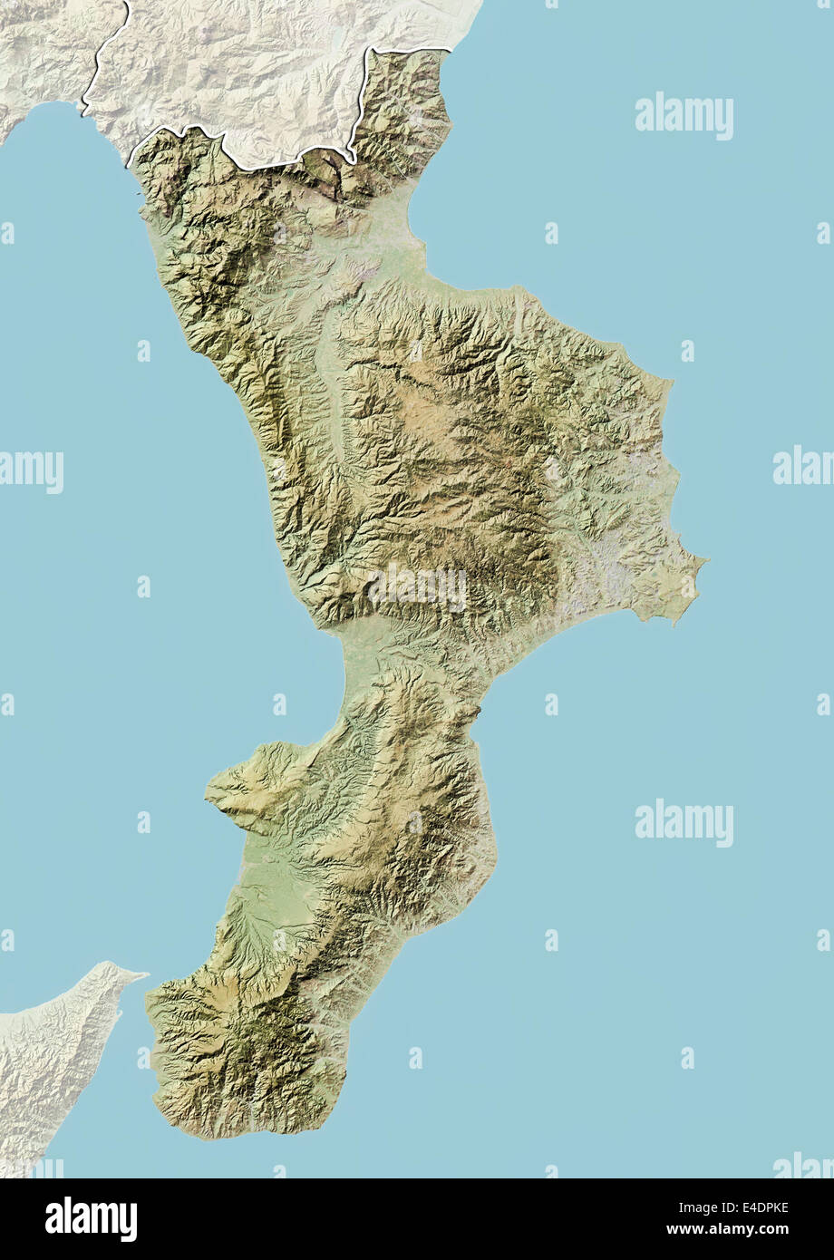 Region Of Calabria Italy Relief Map Stock Photo 71603266 Alamy