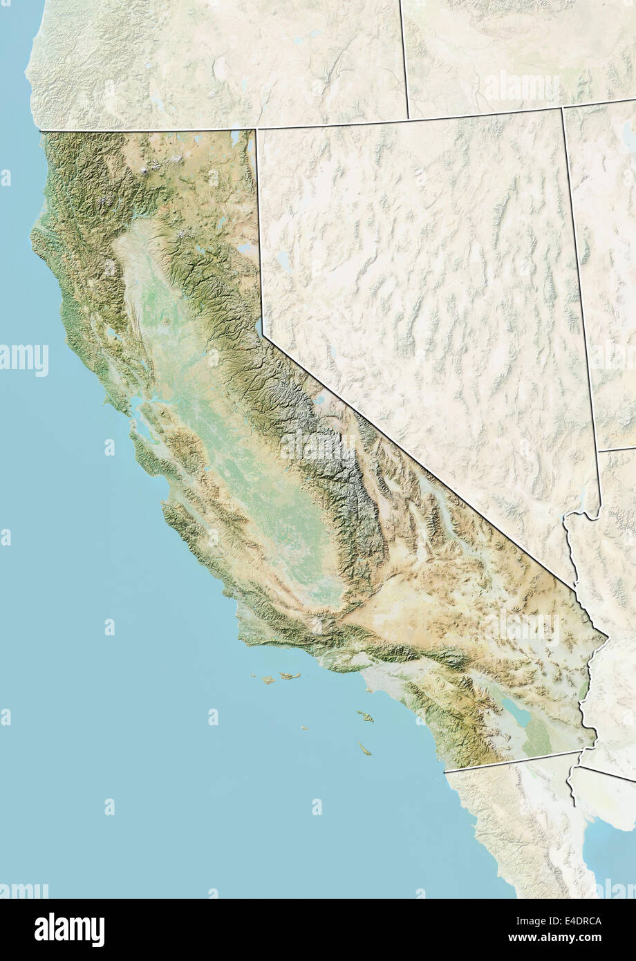 State of California, United States, Relief Map Stock Photo: 71603850 on