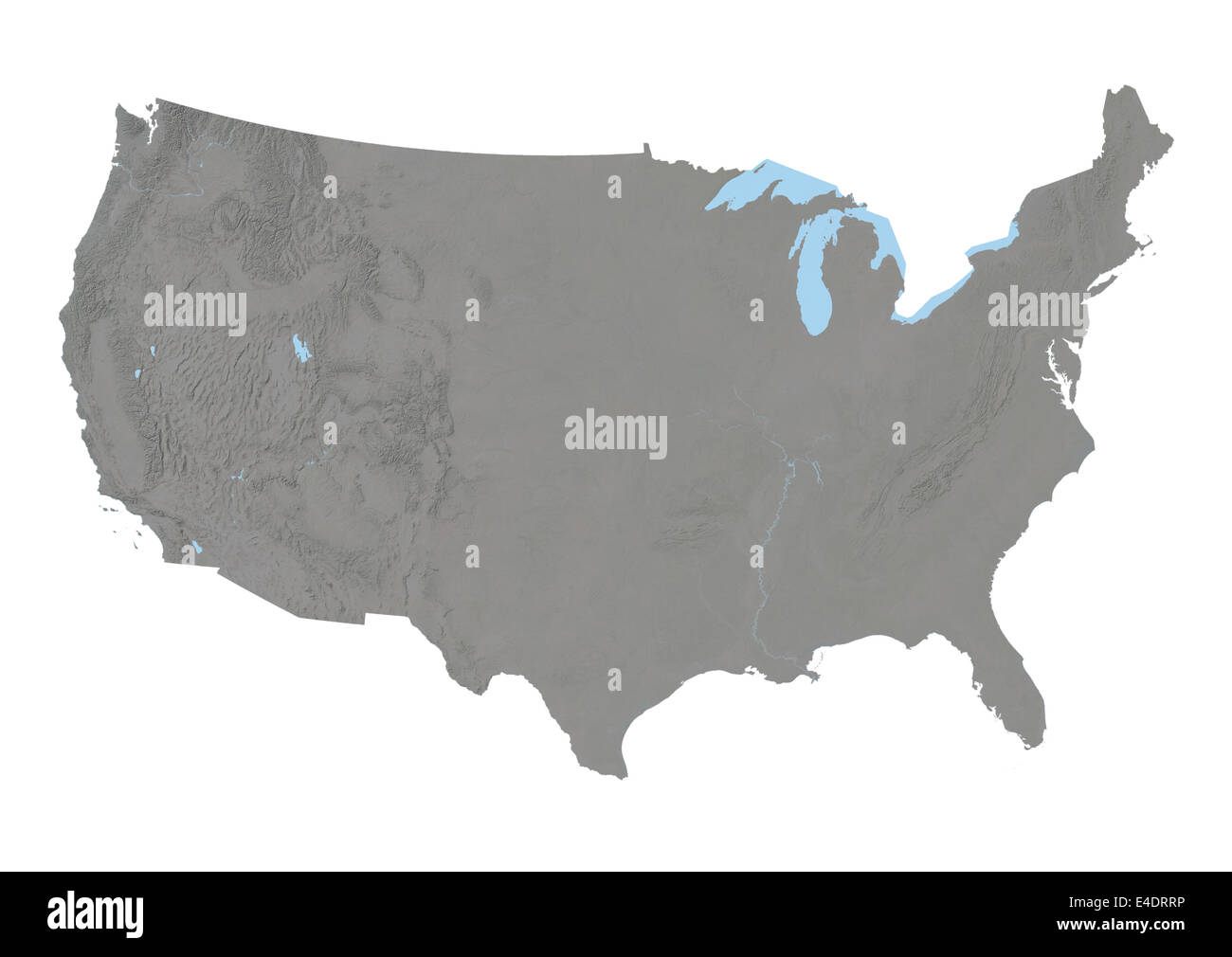 Relief Map Of United States.United States Relief Map Stock Photo 71604170 Alamy