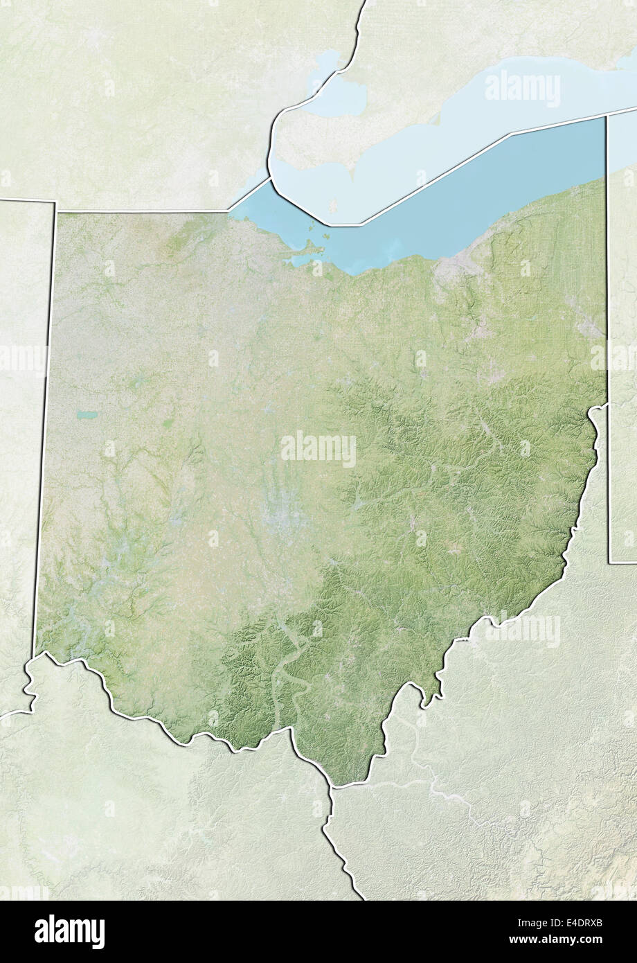 Ohio United States Map.State Of Ohio United States Relief Map Stock Photo 71604243 Alamy