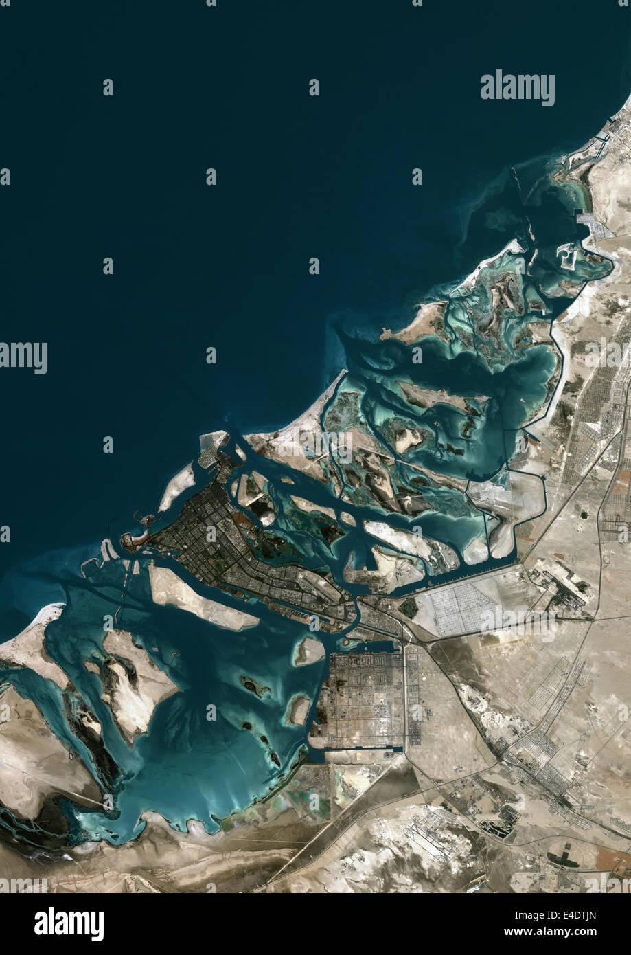 abu dhabi united arab emirates true colour satellite image abu dhabi united