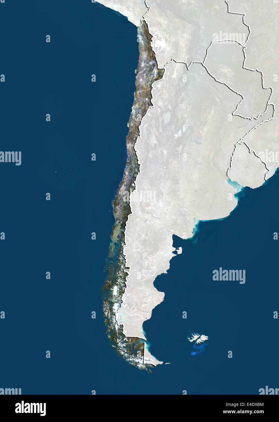 Andes Mountain Range Map Stock Photos & Andes Mountain Range Map ...
