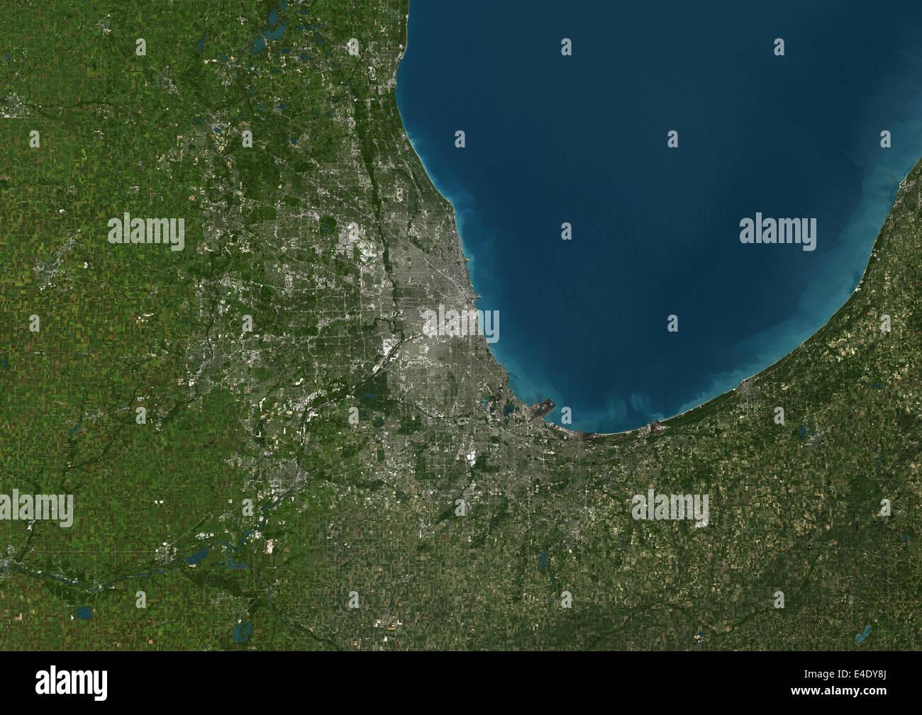 chicago united states true colour satellite image true colour