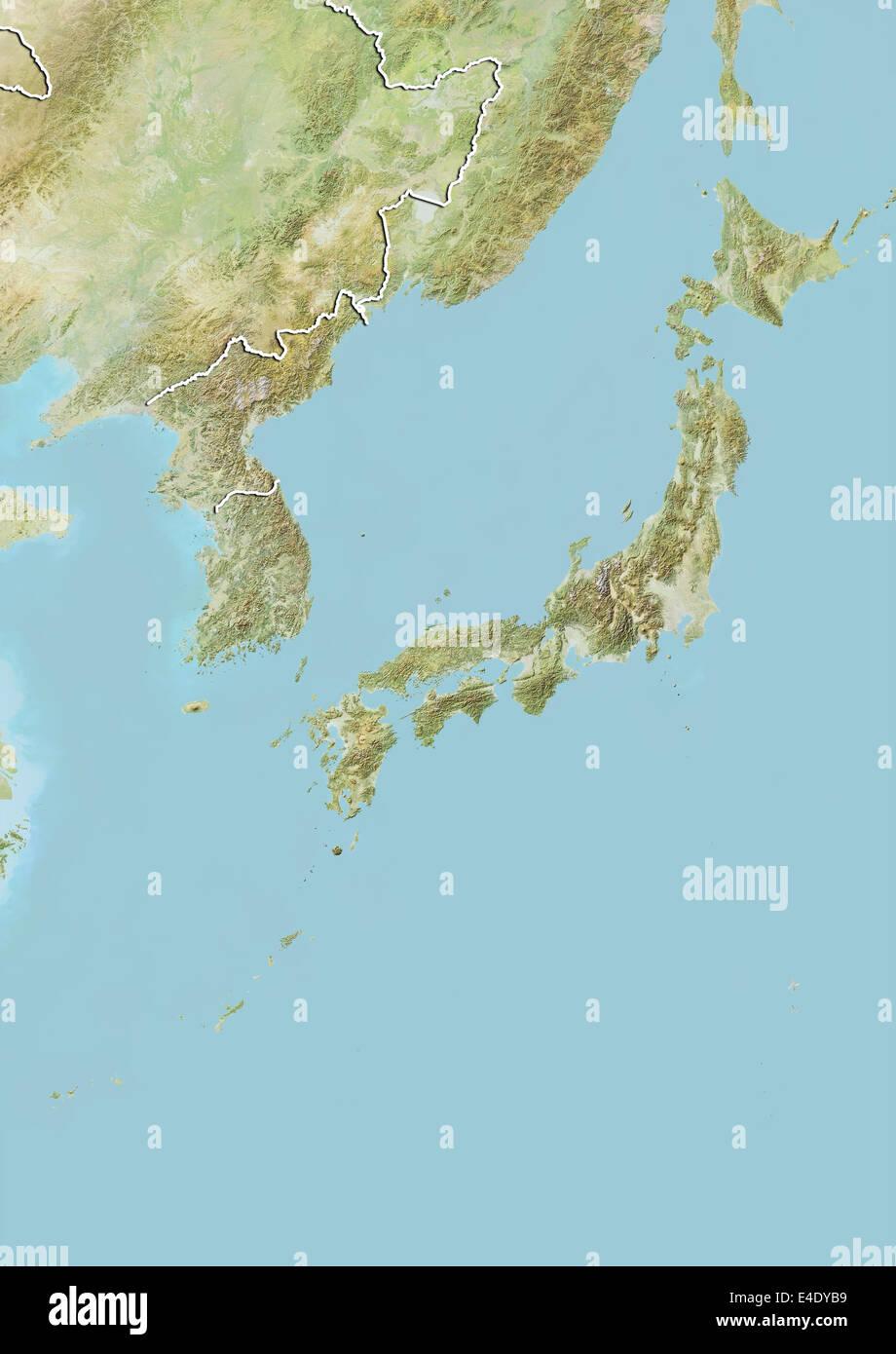 Map Satellite Geography Japan Stock Photos & Map Satellite Geography ...