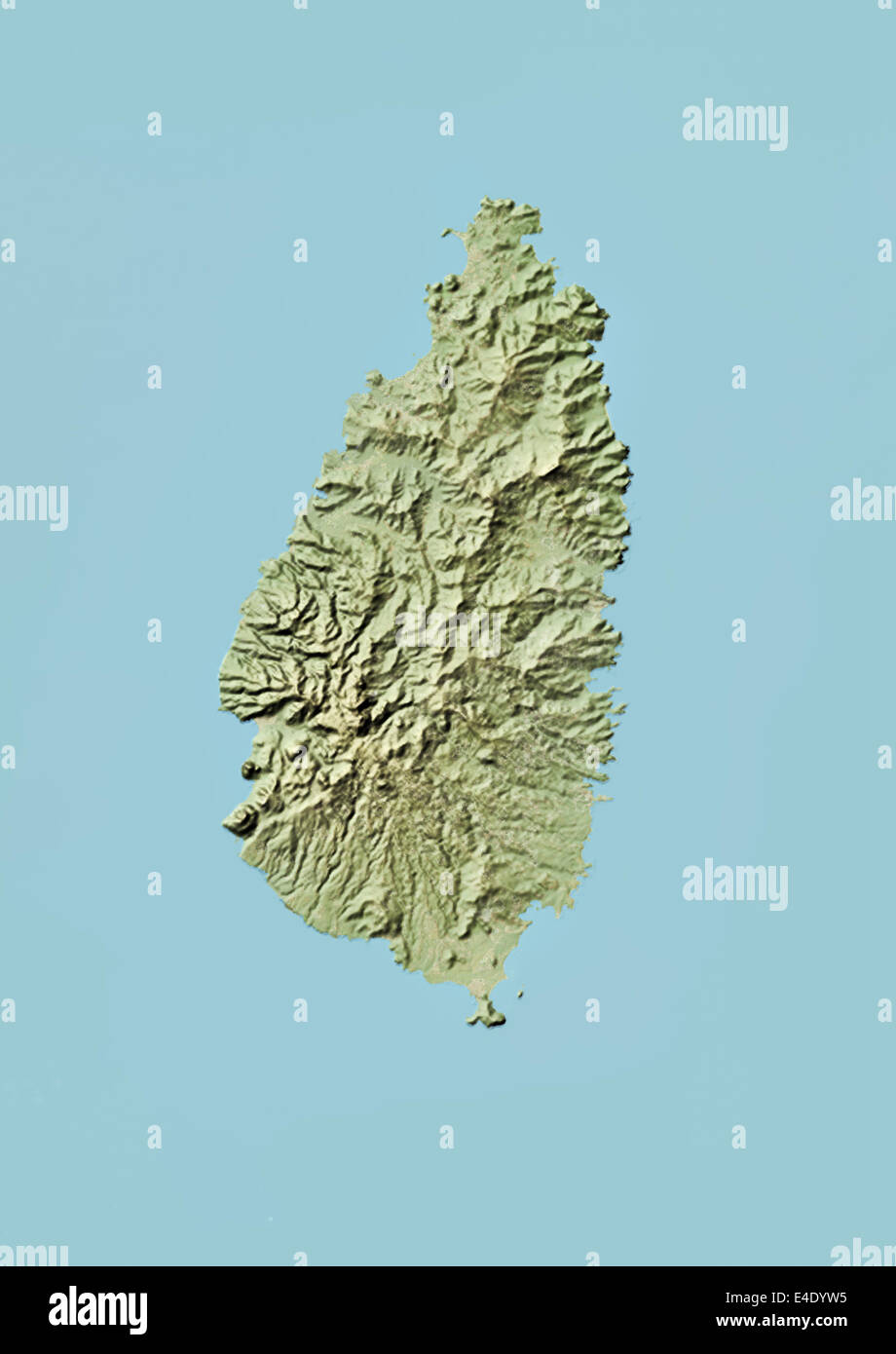 Topography And Saint Lucia Stock Photos & Topography And Saint Lucia ...