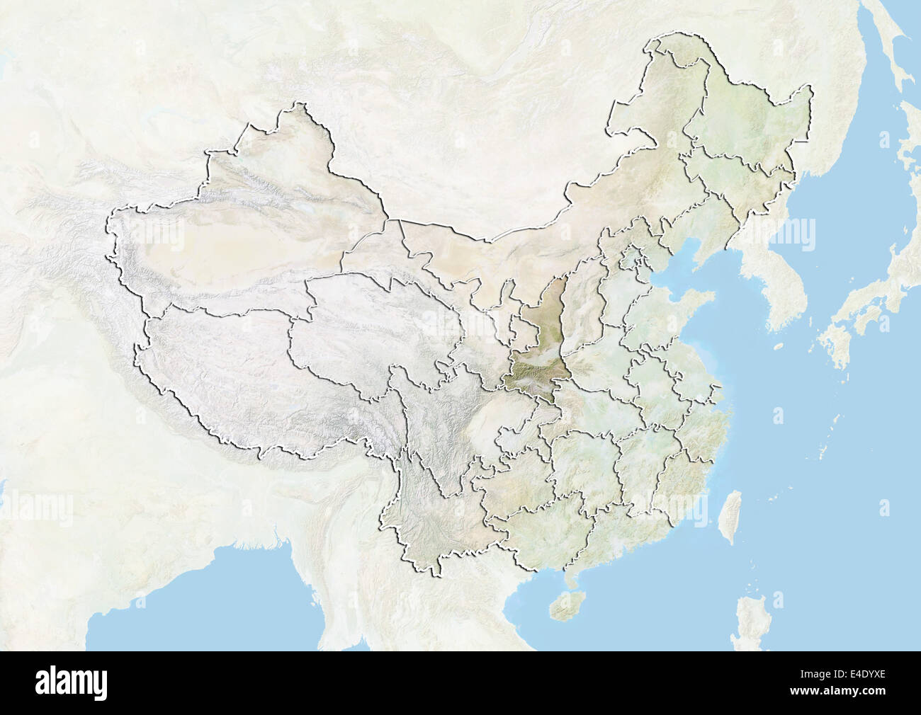 China and the province of shaanxi relief map stock photo 71607382 china and the province of shaanxi relief map gumiabroncs Image collections