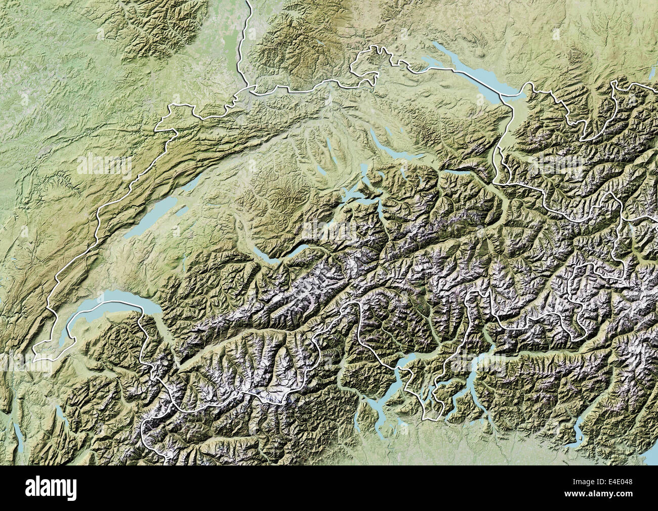 Alps Aerial Map Stock Photos & Alps Aerial Map Stock Images - Alamy