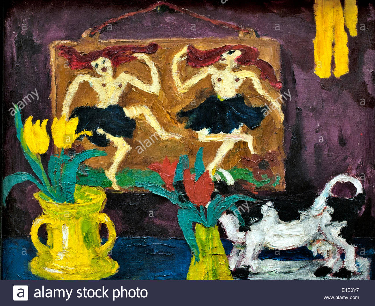 Still life with dancers 1914 by Emil Nolde Danish Painter Denmark - Stock Image