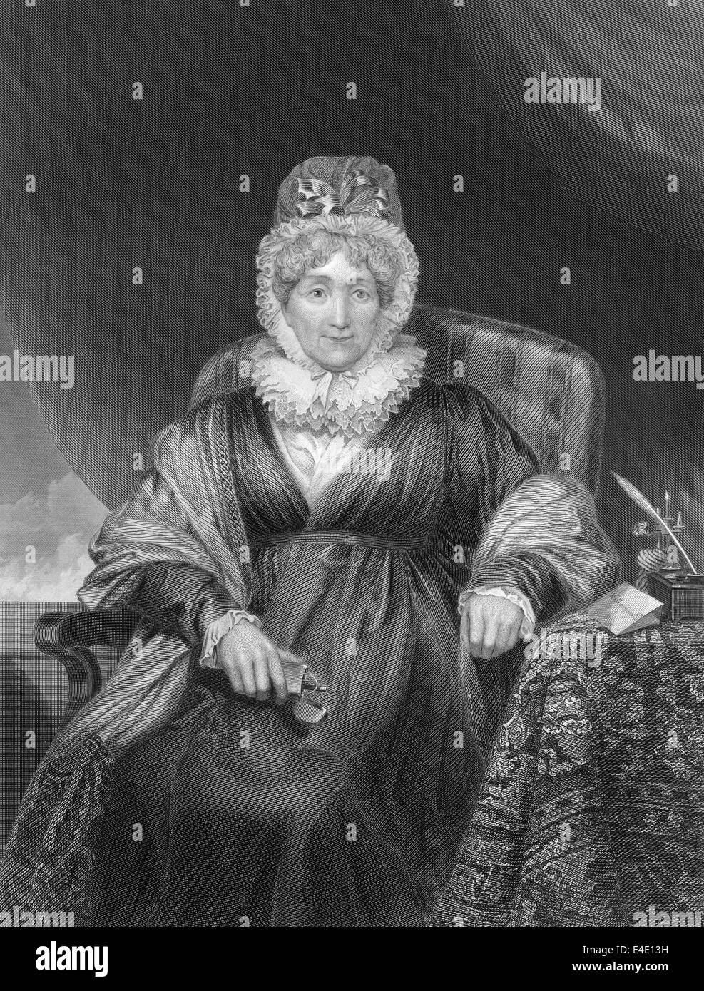 Hannah More, 1745 - 1833, an English religious writer and philanthropist, - Stock Image