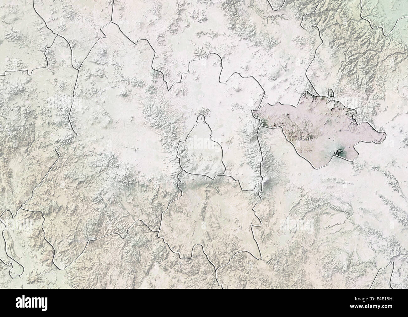 State Of Tlaxcala Mexico Relief Map Stock Photo 71608449 Alamy