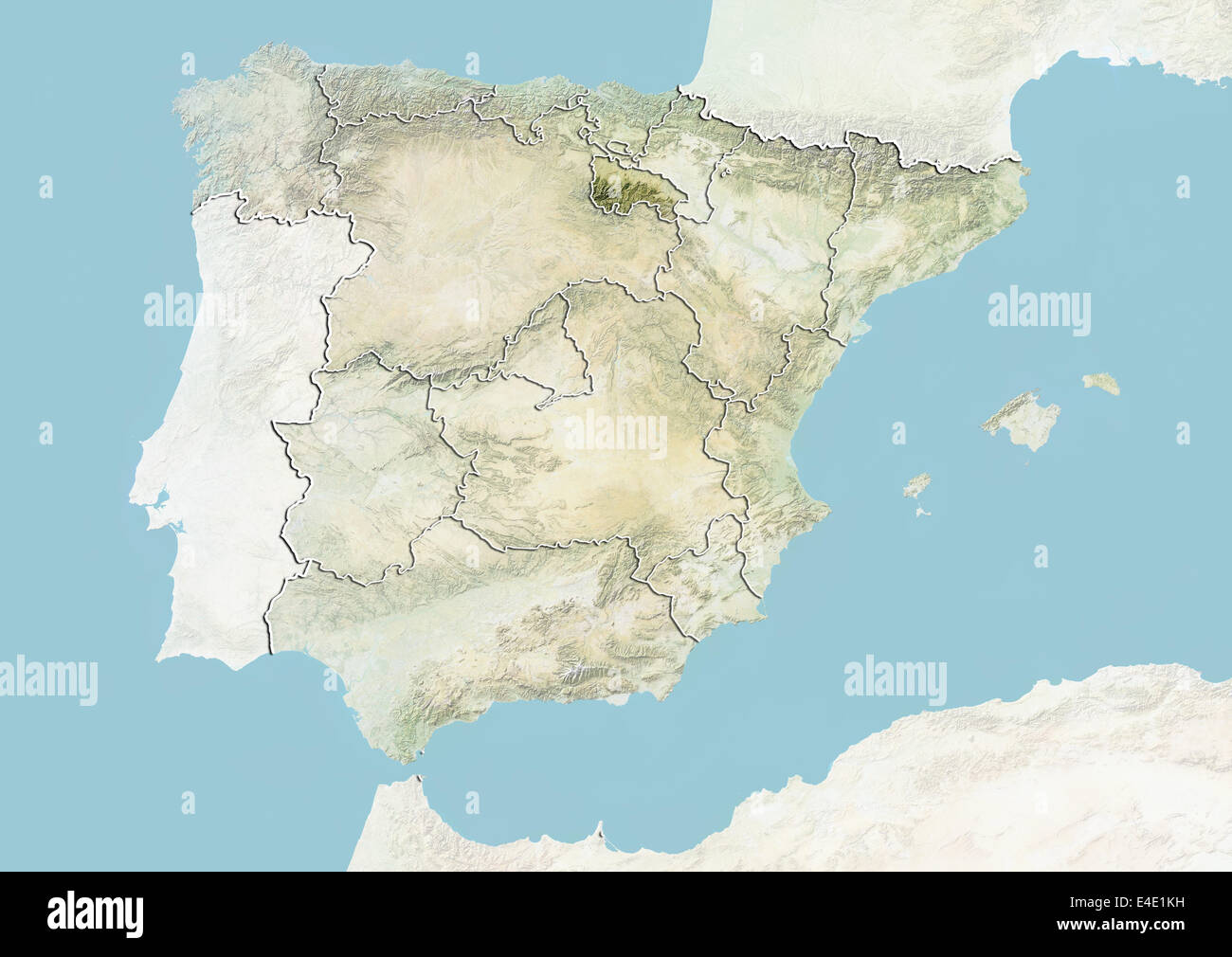 Map Of Spain Rioja.Spain And The Region Of La Rioja Relief Map Stock Photo 71608757