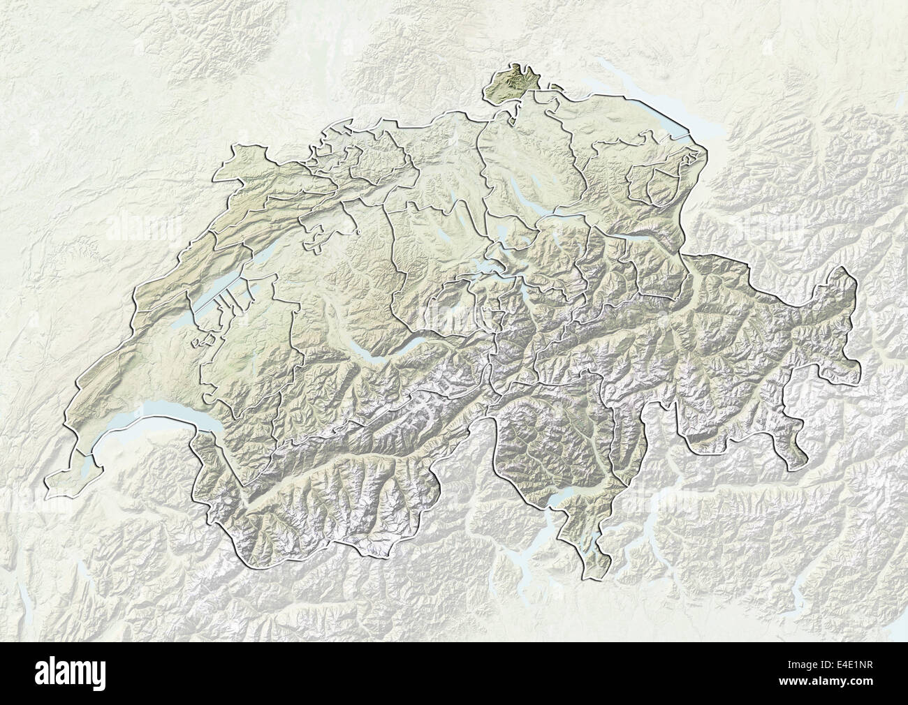Map Satellite Geography Switzerland Stock Photos Map Satellite