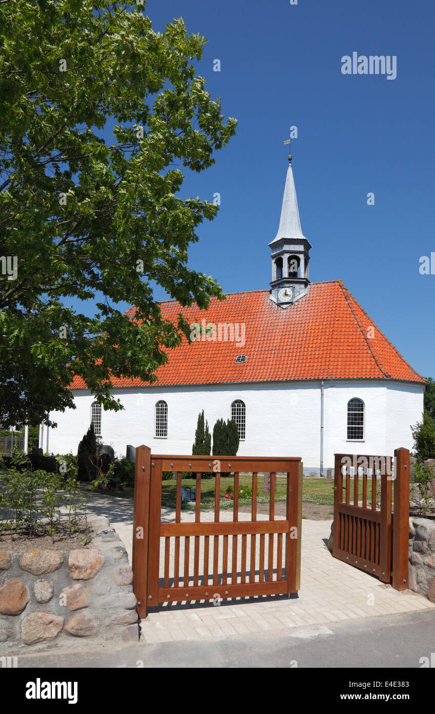 Gilleleje Church, North Zealand, Denmark. The attic was hiding-place for Jews before being sailed to Sweden during Stock Photo