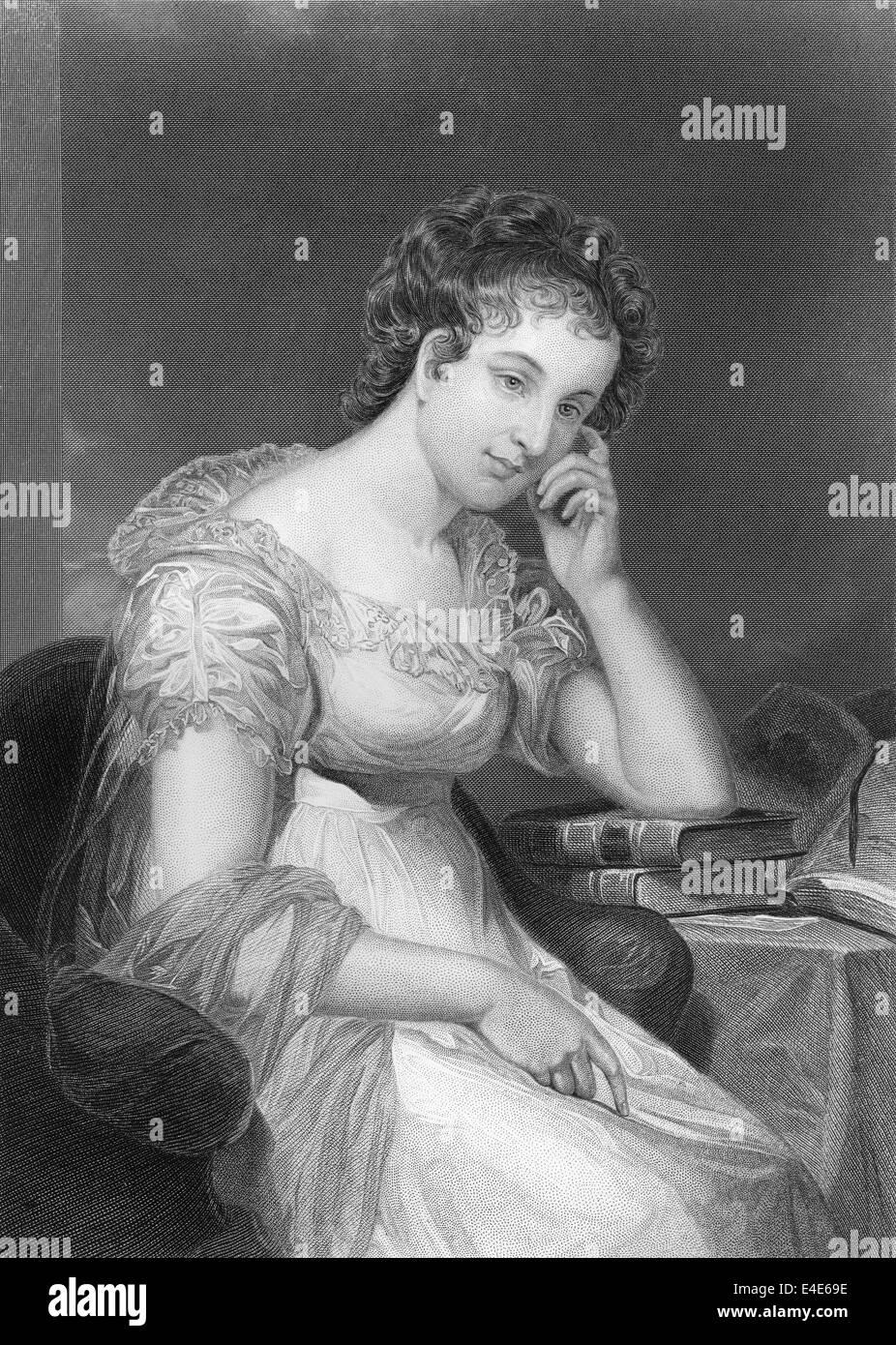Maria Edgeworth, 1768 - 1849, an Anglo-Irish writer, - Stock Image
