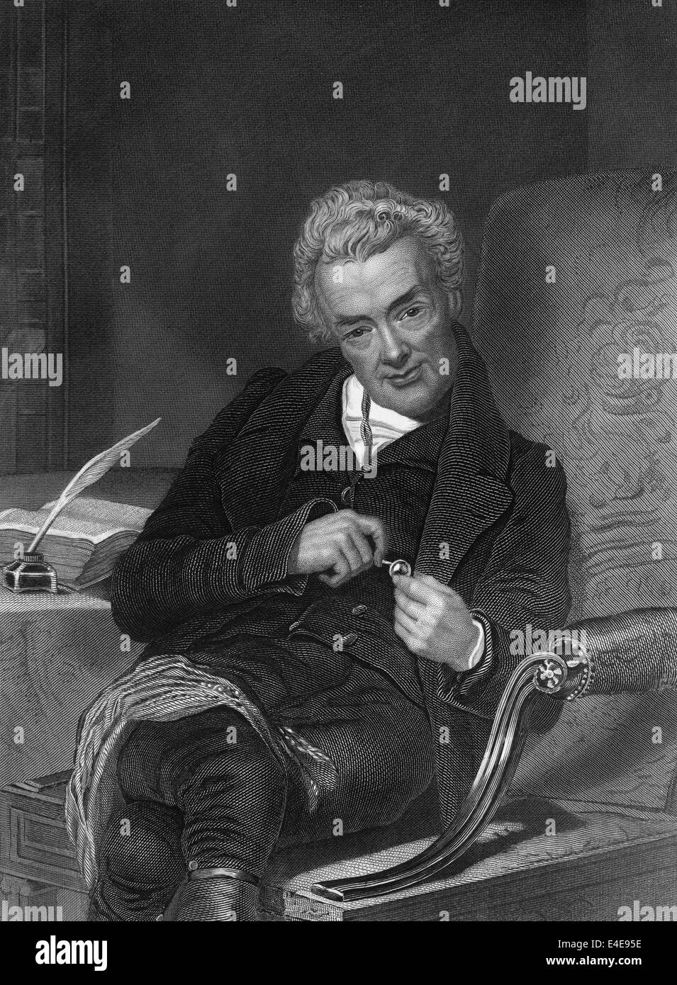 William Wilberforce, 1759 - 1833, an English politician, philanthropist, and a leader of the movement to abolish - Stock Image