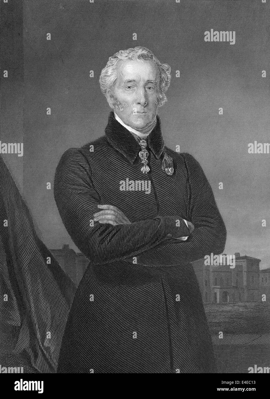 Arthur Wellesley, 1st Duke of Wellington, 1769 - 1852, field marshal and a British military leader, foreign minister - Stock Image