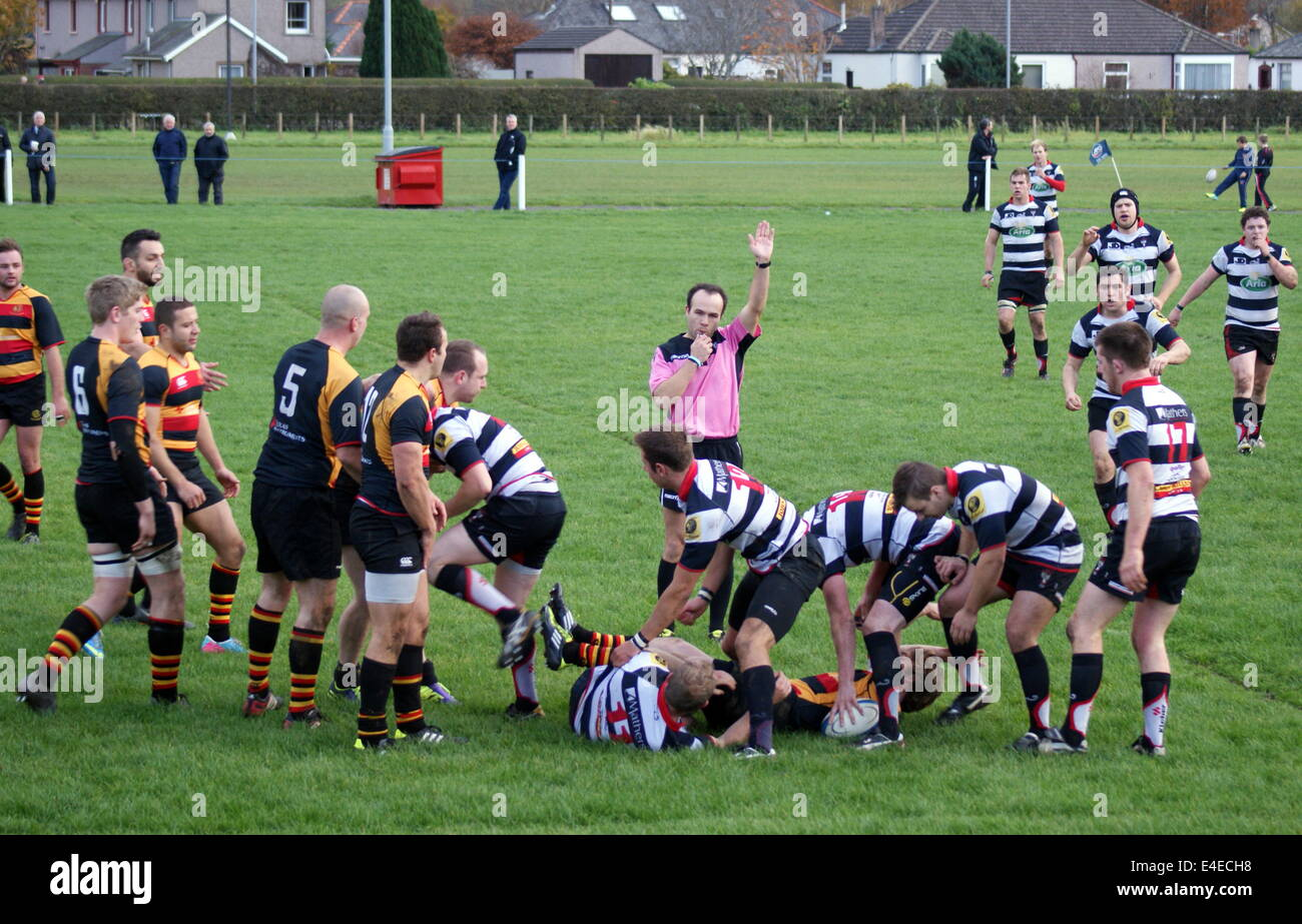 RBS West Regional League One GHK 3 Irvine 32 Old Anniesland Glasgow Saturday April 6th 2014 - Stock Image