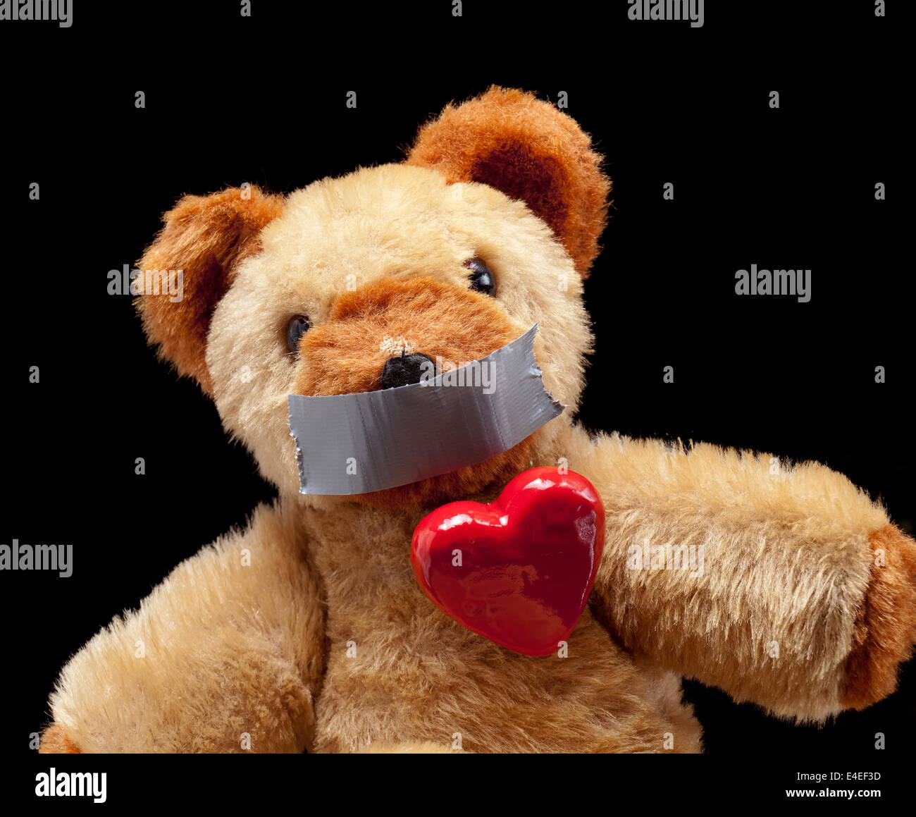 Conceptual image of some blackmailed passioned lover. - Stock Image