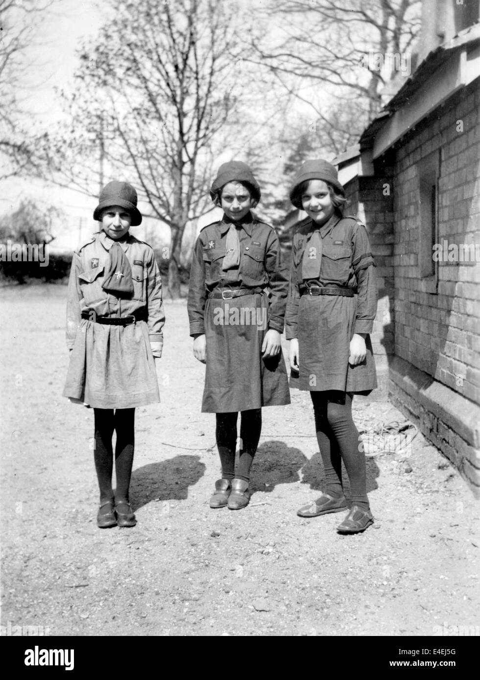 Brownie Girl Guides 1936 1930s Guiding guide group uk - Stock Image