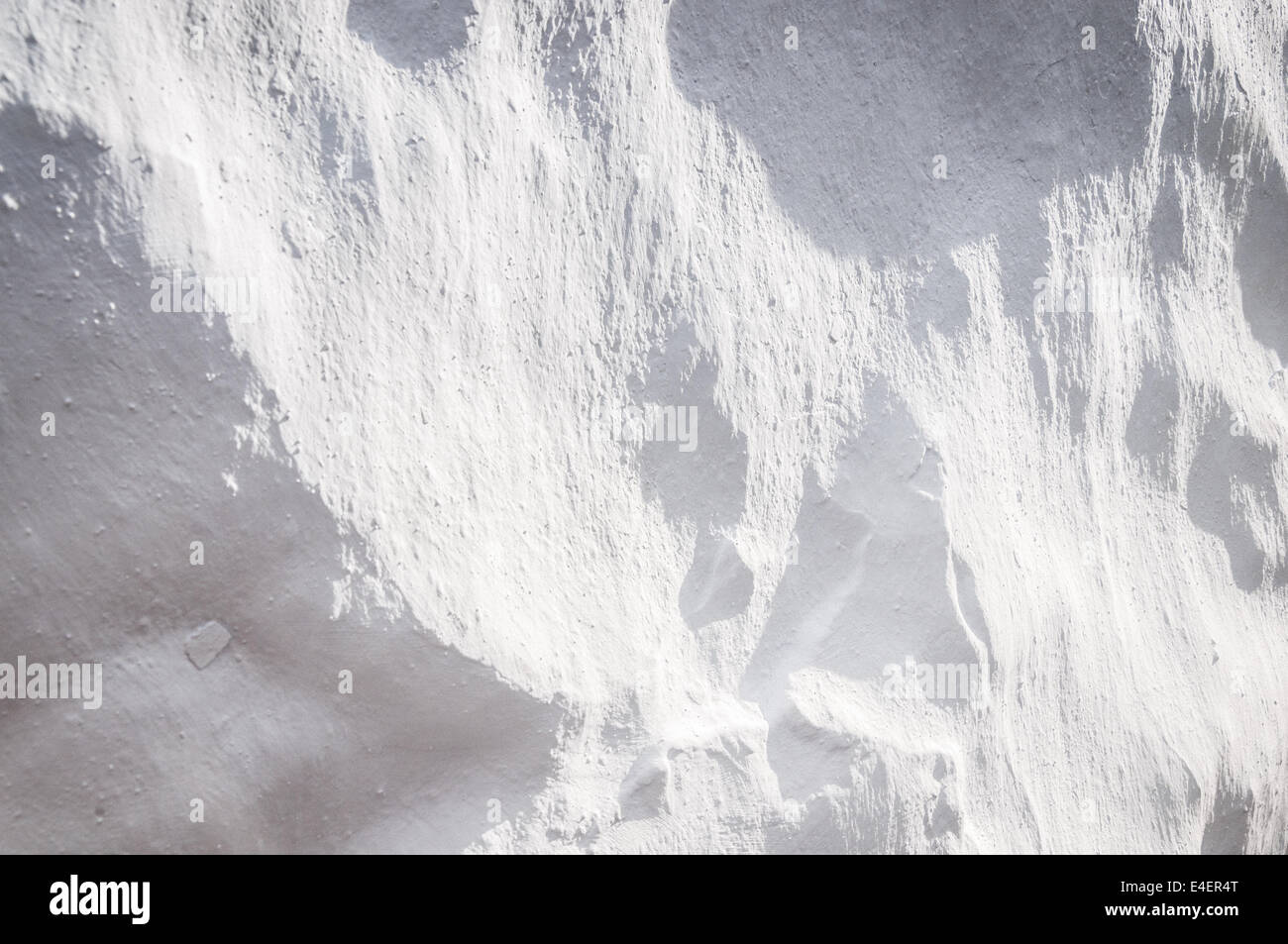 Textured white wall background detail - Stock Image